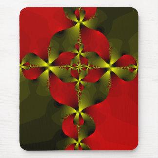 Crimson Foil Cross Mouse Pad