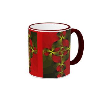 Crimson Foil Cross Ringer Coffee Mug
