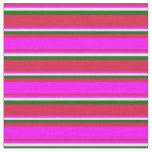 [ Thumbnail: Crimson, Fuchsia, Lavender, and Dark Green Lines Fabric ]