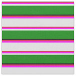 [ Thumbnail: Crimson, Fuchsia, Lavender, Green, and Black Fabric ]
