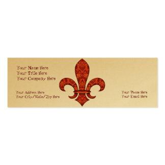 Crimson Garden Fleur de lis Business Cards