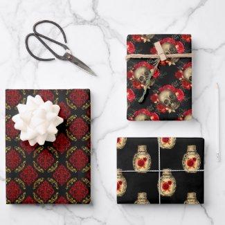Crimson Gothic Gift Wrap