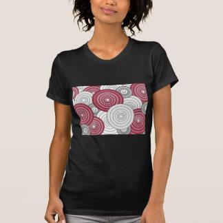 Crimson & Gray Circles Dark Shirt