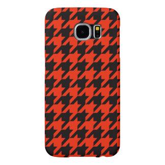 Crimson Houndstooth 2 Samsung Galaxy S6 Case