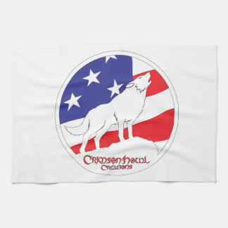 Crimson Howl Flag Hand Towel
