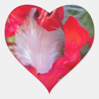 Crimson.jpg extranjero hermoso pegatina en forma de corazón