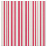 [ Thumbnail: Crimson & Light Cyan Lines/Stripes Pattern Fabric ]