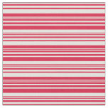 [ Thumbnail: Crimson & Light Yellow Colored Stripes Fabric ]