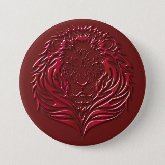 Crimson Lion Face Button