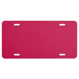 """""""Crimson"""" License Plate"""