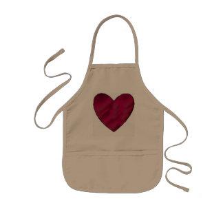 Crimson Love Heart Kids' Apron