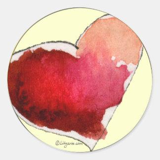 Crimson Love Hearts Envelope Seals
