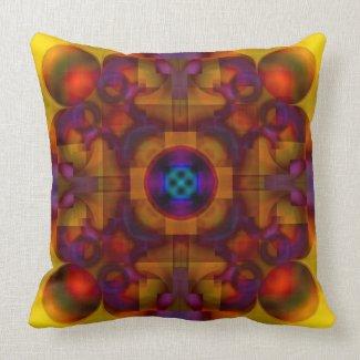 Crimson Mantra 4 American MoJo Pillow throwpillow