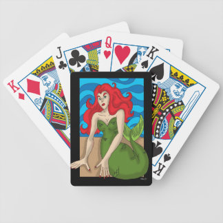 crimson mermaid playing cards