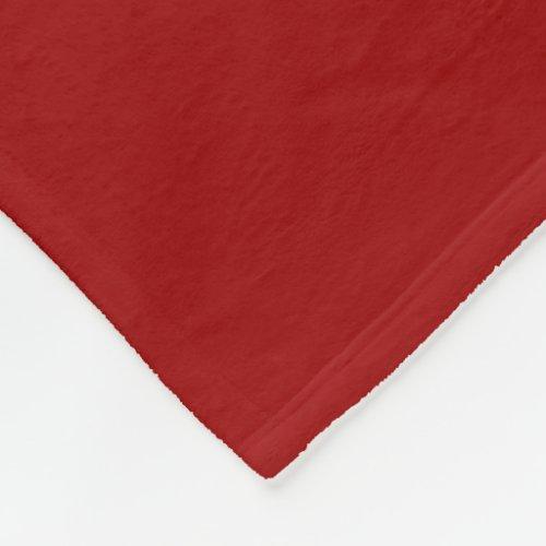 Crimson Midwest Fleece Blanket