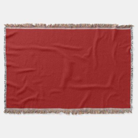 Crimson Midwest Throw Blanket