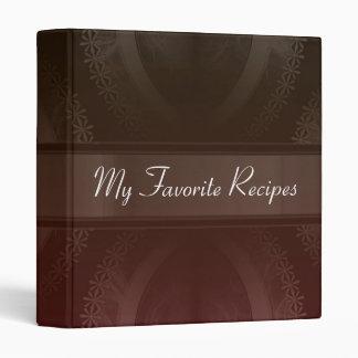 Crimson Mocha Smoke Recipe Book 3 Ring Binder
