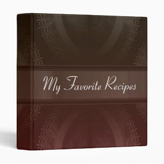 Crimson Mocha Smoke Recipe Book Binder