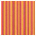 [ Thumbnail: Crimson & Orange Pattern of Stripes Fabric ]