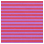 [ Thumbnail: Crimson & Orchid Lined/Striped Pattern Fabric ]