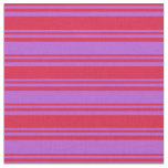 [ Thumbnail: Crimson & Orchid Pattern Fabric ]