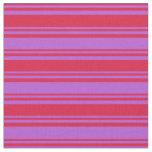 [ Thumbnail: Crimson & Orchid Pattern Fabric ]