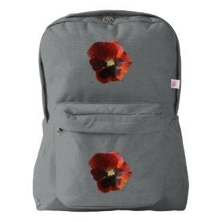 Crimson Pansies Backpack