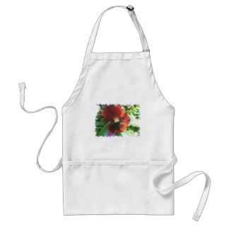 Crimson pansy adult apron