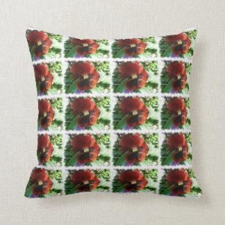 Crimson Pansy American MoJo Pillow