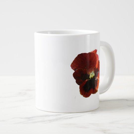 Crimson Pansy Giant Coffee Mug