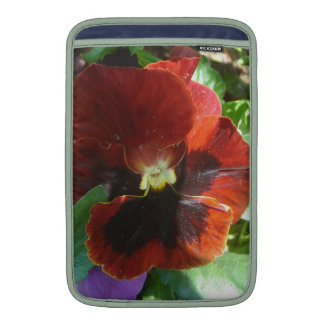 Crimson Pansy Sleeve For MacBook Air