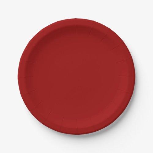 Crimson Paper Plates