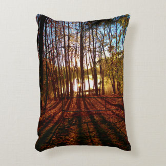 Crimson Pathway Decorative Pillow