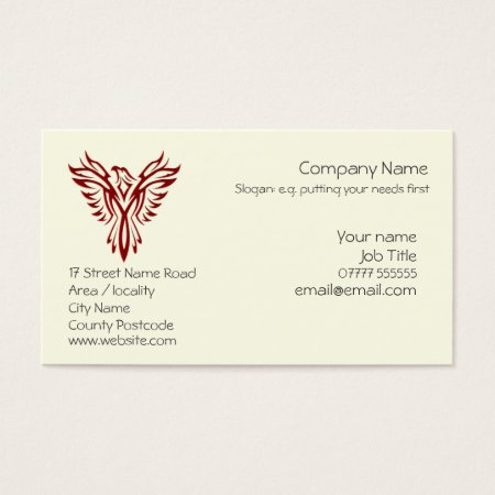 Crimson Phoenix business card templates