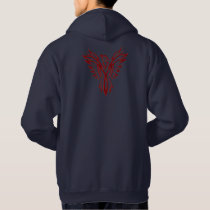 Crimson Phoenix Rising Hoodie