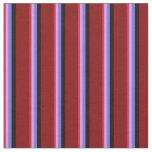 [ Thumbnail: Crimson, Plum, Medium Slate Blue, Black & Maroon Fabric ]
