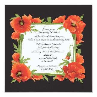 Crimson Poppies Invitation