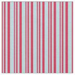 [ Thumbnail: Crimson & Powder Blue Colored Stripes Pattern Fabric ]