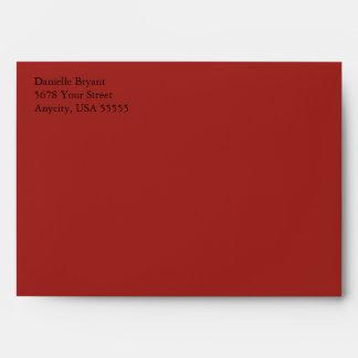 Crimson Red A7 5x7 Custom Pre-addressed Envelopes