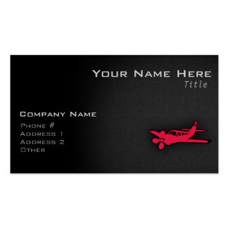 Crimson Red Airplane Double-Sided Standard Business Cards (Pack Of 100)