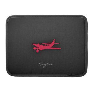 Crimson Red Airplane MacBook Pro Sleeve