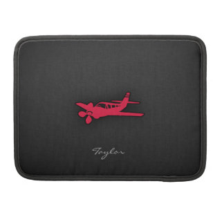 Crimson Red Airplane Sleeves For MacBook Pro
