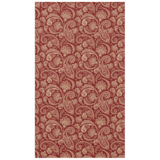 Crimson Red And Beige Creme Vintage Paisley Tablecloth