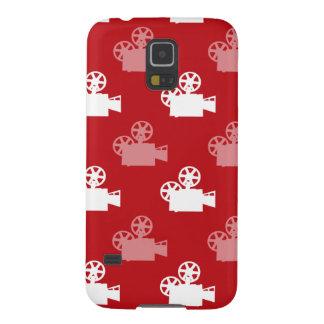 Crimson Red and White Movie Camera Galaxy S5 Case