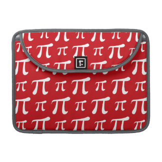 Crimson Red and White Pi Symbol MacBook Pro Sleeves