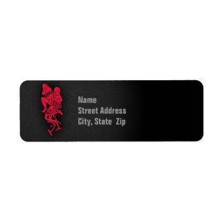 Crimson Red Aquarius Label