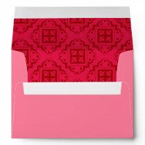 Crimson Red Arabesque Moroccan Graphic Envelope