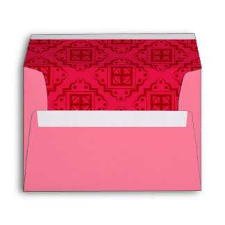 Crimson Red Arabesque Moroccan Graphic Envelopes