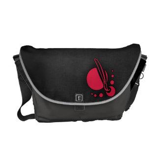 Crimson Red Artist Messenger Bag