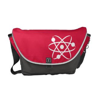 Crimson Red Atom Messenger Bag